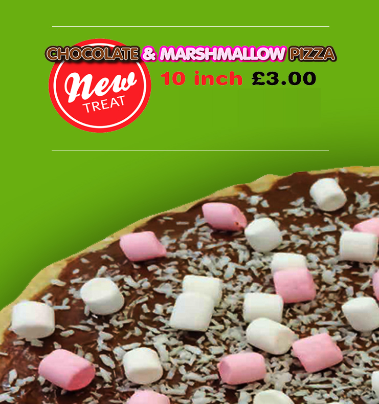 chocolate and marshmallow pizza
